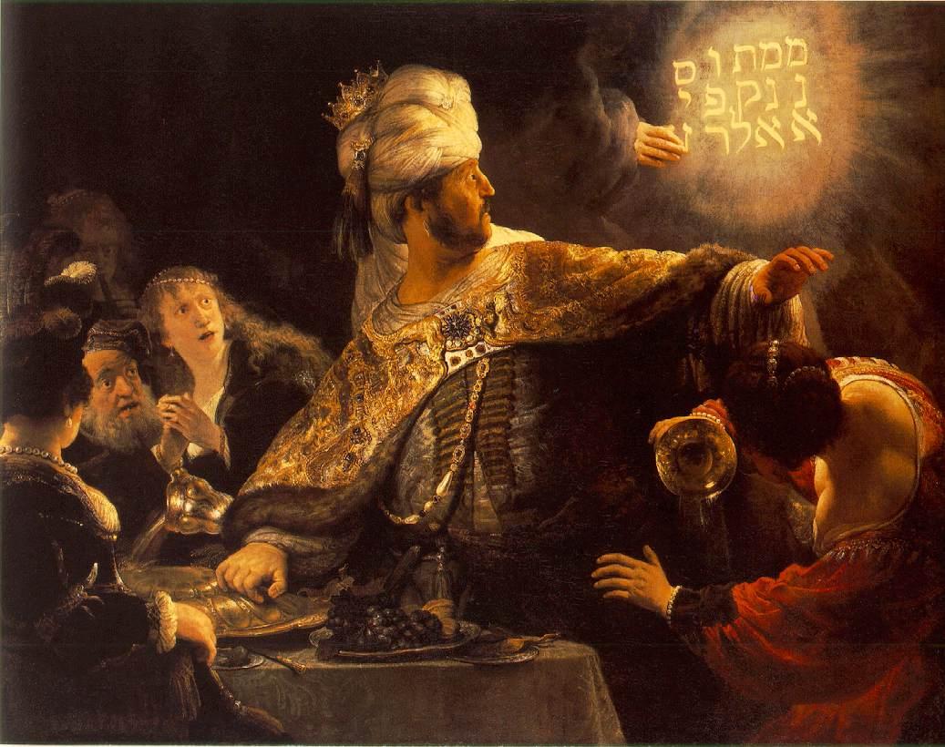 Rembrandt_-_Belshazzars_Feast_-_WGA19123